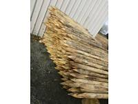"fence post 3-4""round 6ft long"