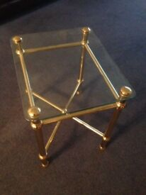 Small Glass Lamp Table