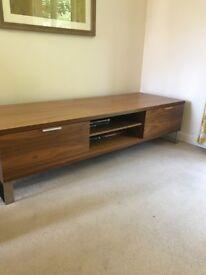 Large dark wooden TV stand
