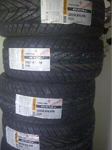 BRAND NEW WITH LABELS HIGH PERFORMANCE ' H ' RATED KUMHO 205/50/16 ALL SEASON TIRES.