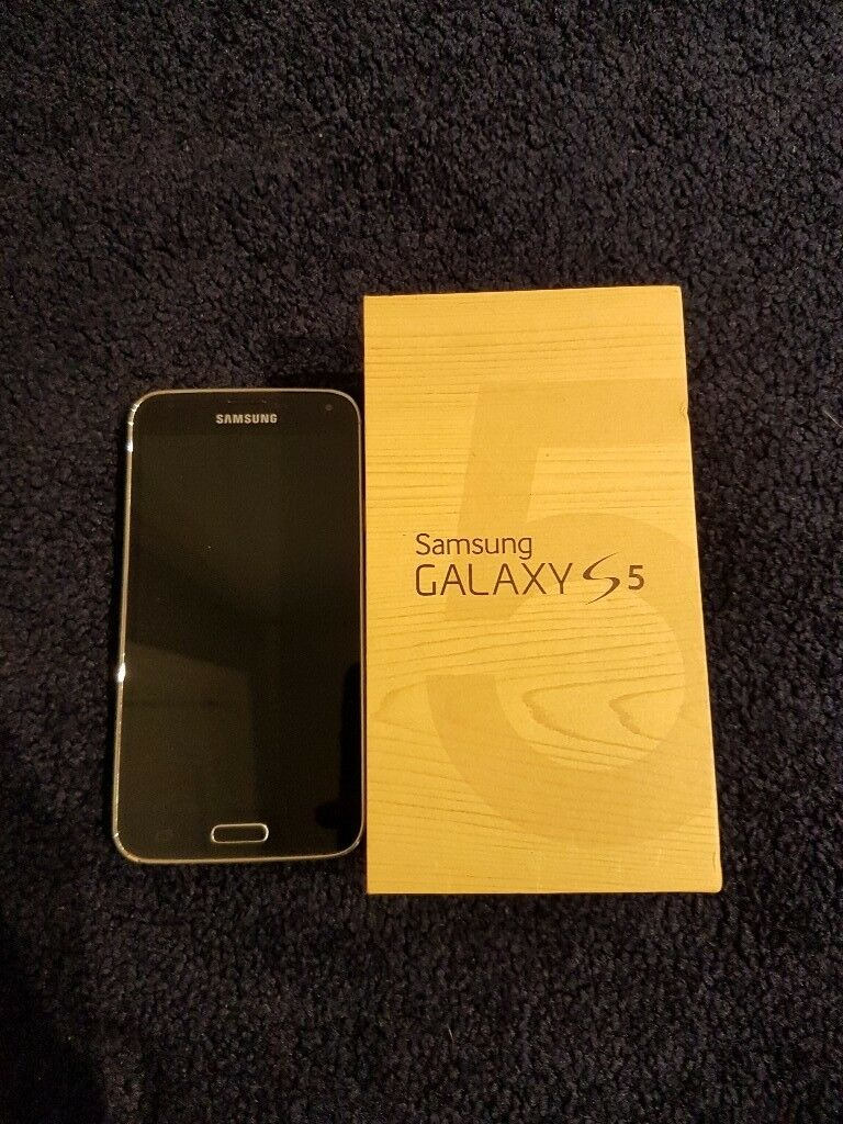 Samsung Galaxy S5, Blue, Boxed with charger
