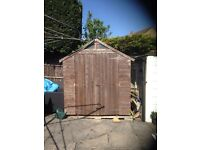 8x6 Shed, double entrance doors and windows