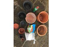 Garden planting pots compost perlite coco peat accessories