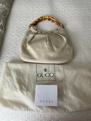 Vintage Gucci Mini Hobo w/ Bamboo Handles - 11x9 - With Dust Bag