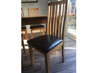 Extendable Oak Dining Table And 6 Chairs