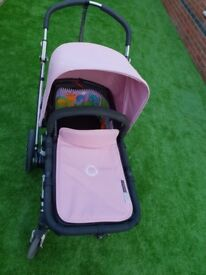 Bugaboo cameleon 2 for sale with tailored pink and red material included and parasol