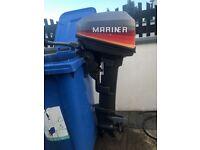 9.9hp Mariner 2 stroke long shaft outboard/boat £450 Downpatrick