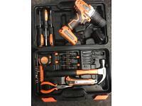 Saber 15 bit cordless drill set