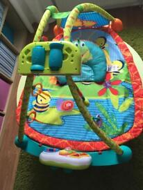 Bright Starts 2 in 1 convertible activity playmat and gym
