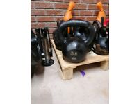 36kg kettlebell 7 foot Olympic axel barbell