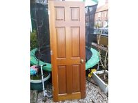 6 solid Teak doors with hinges and handles