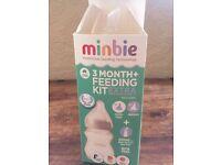 Minbie 3 month + Feeding Kit NEW