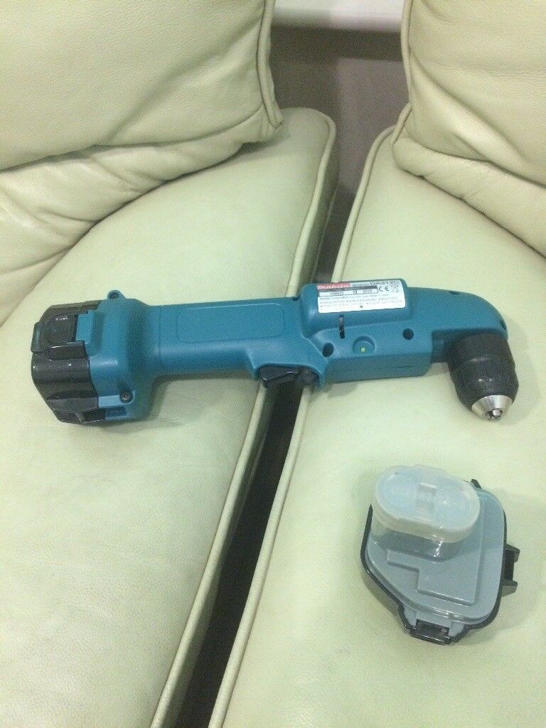 Makita 12v angled drill and 2 batteries.