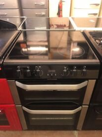 60CM BLACK STAINLESS STEEL BELLING DOUBLE OVEN ELECTRIC COOKER