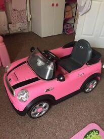 Pink 6v Mini Cooper