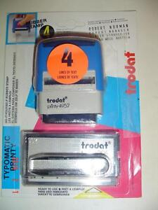 TRODAT MODEL PRINTY 4952 DO-IT-YOURSELF RUBBER STAMP 4 LINE SET Windsor Region Ontario image 1
