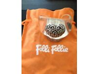 Folli Follie Perspex cuff with oxidised silver coloured heart