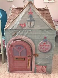 Rose petal cottage play tent / house with extras