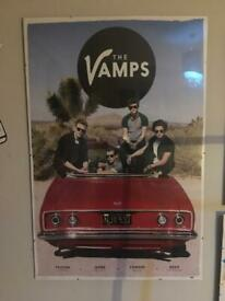 The Vamps framed posters x 2