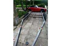 Twin Axle Caravan Chassis with 6x Wheels - trailer project Alko al-ko