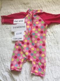 Mini Mode baby girls swimsuit 3-6 months