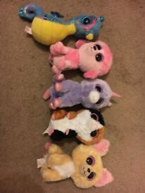 Beaini Baby Plush, soft toys, various, 5-off, great condition.