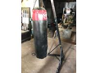Punch bag with adjustable stand