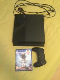 Used PS4 with Star Wars battlefront