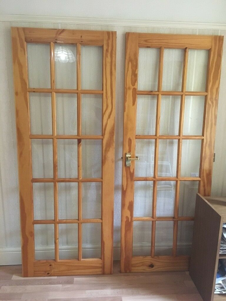 Pair Of Internal Wooden Glass Panelled Doors In Oxford