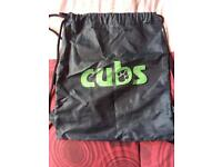 Cubs drawstring bag.