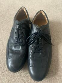 Designer Men's leather Armani Jeans shoe/trainer style - like new