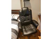 Hercules Luxurious Leather Gull-Wing Executive office computer chair RRP £190