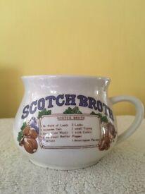 Vintage Scotch Broth Recipe Soup Bowl