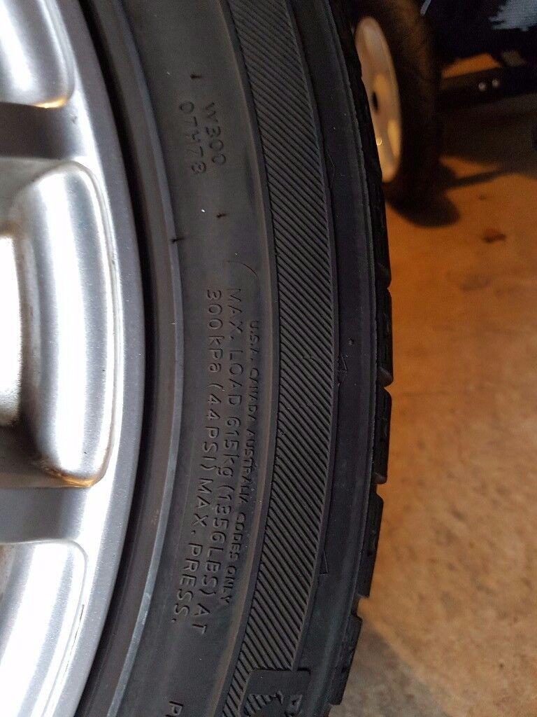 4 alloy wheeels 16 5x100