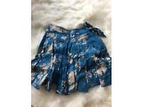 Floral blue Kids skirt