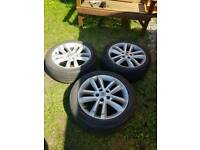 17INCH VAUXHALL ALLOY WHEELS