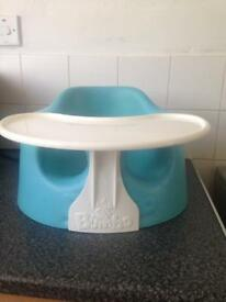 Bumbo seat with tray in great condition £15