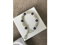 Cute 30th Birthday Bracelet - Purple and White