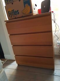 chest of four drawers very good condition
