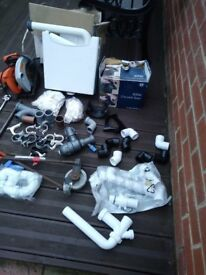 Job lot plumbing fittings and tools