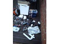 Job lot plumbing fittings and tools
