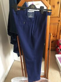 Men's suit trousers blue 34/31 leg