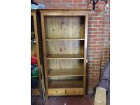 *2 matching pine wood book cases for sale*