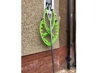 Rotary washing line with cover (outdoor use)