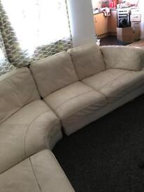 Leather corner sofa/settee