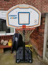 Adjustable water based basketball net