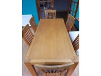 Bespoke Dinning Table and 6 Chairs