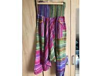 Colorful harem pants