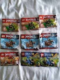 Brand new and sealed Lego Ninjago & nexo knights polybags