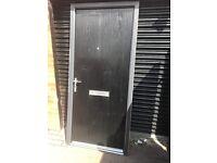 Upvc black sold compasite door37.5x82 inches